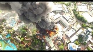Пожар в парке развлечений в Германии / Fire in Europark amusement Rust, Germany