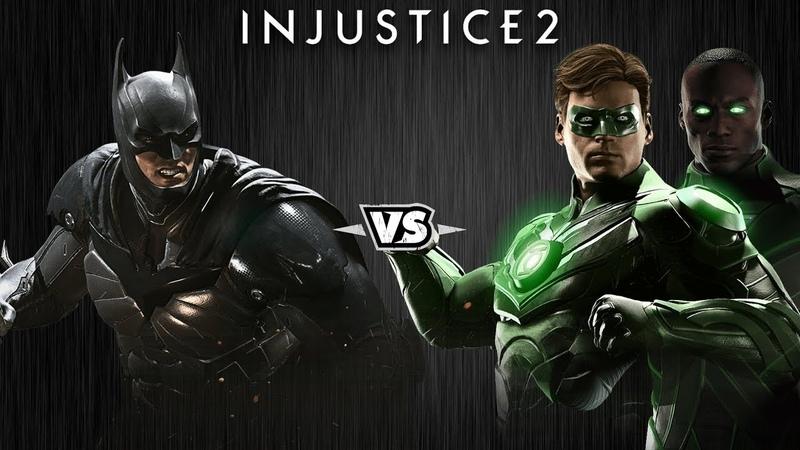 Injustice 2 - Бэтмен против Зелёных Фонарей - Intros Clashes (rus)