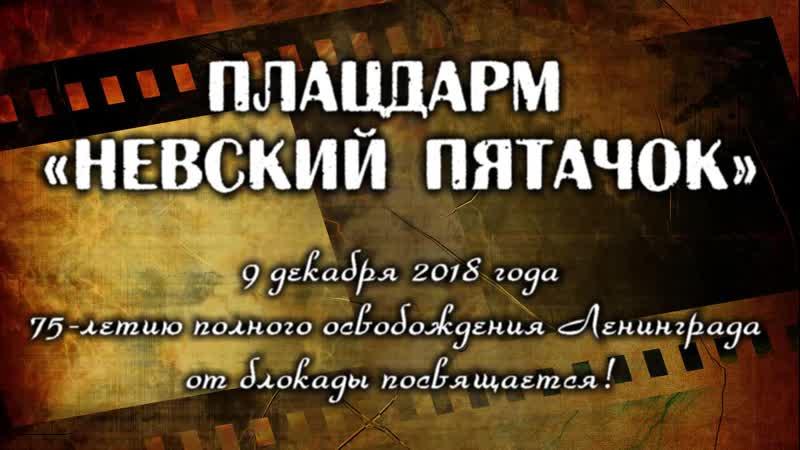 Плацдарм Невский пятачок. 9 декабря 2018 года.
