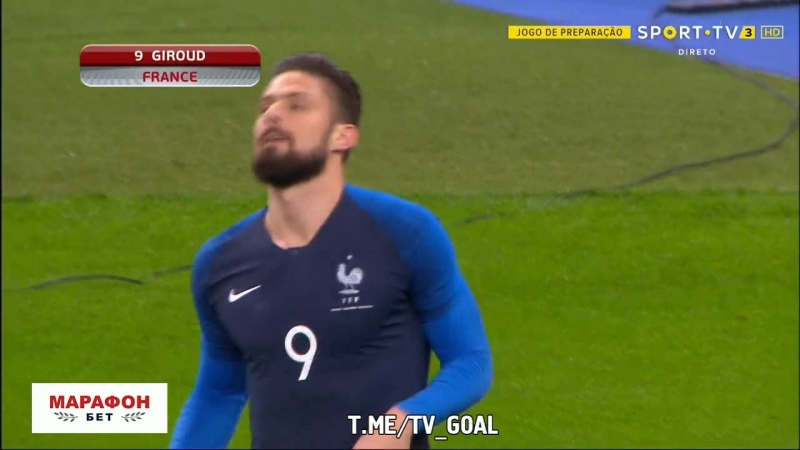 Франция 1:0 Колумбия | Жиру
