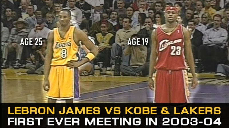 LeBron James' First Ever Game Against Kobe Bryant And Los Angeles Lakers!
