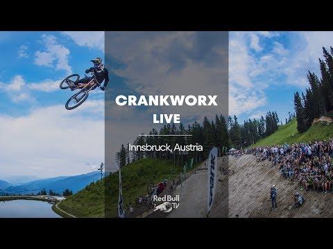 MTB Slopestyle shredding.   Crankworx FMBA Slopestyle Innsbruck 2018