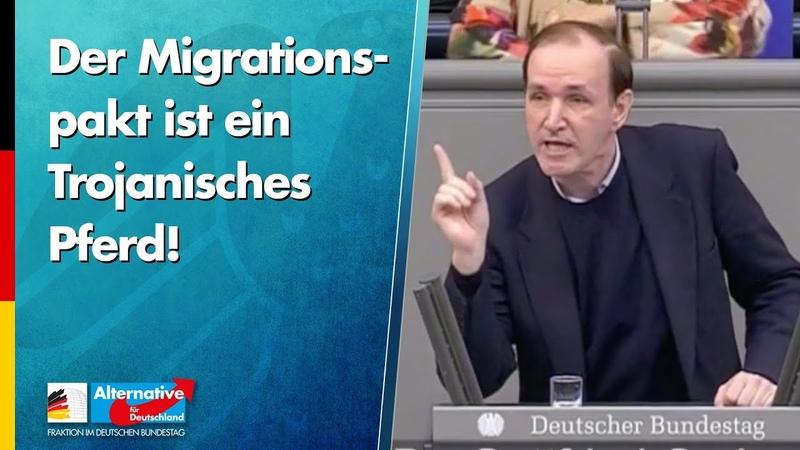 Der Migrationspakt ist ein Trojanisches Pferd! - Gottfried Curio - AfD-Fraktion im Bundestag