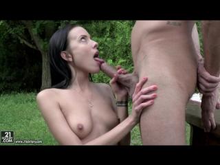Lexi Layo - Deepthroat Picnic [Brunette, Blowjob, Deep Throat, Natural Tits, Outdoors, Teen]