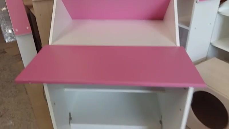 Детский стол парта трансформер Зю-Зю . Цвет белый и розовый. Полки-кидс. ру » Freewka.com - Смотреть онлайн в хорощем качестве