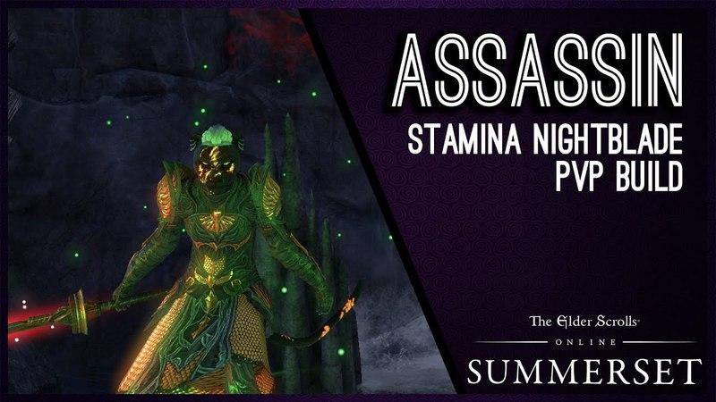 Stamina Nightblade Build PVP Assassin - Summerset Chapter ESO