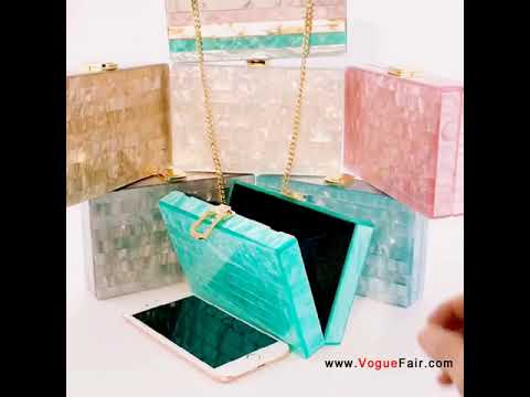 2018 New Collection Marble Stripes Acrylic Clutch Hot Selling Evening Bag