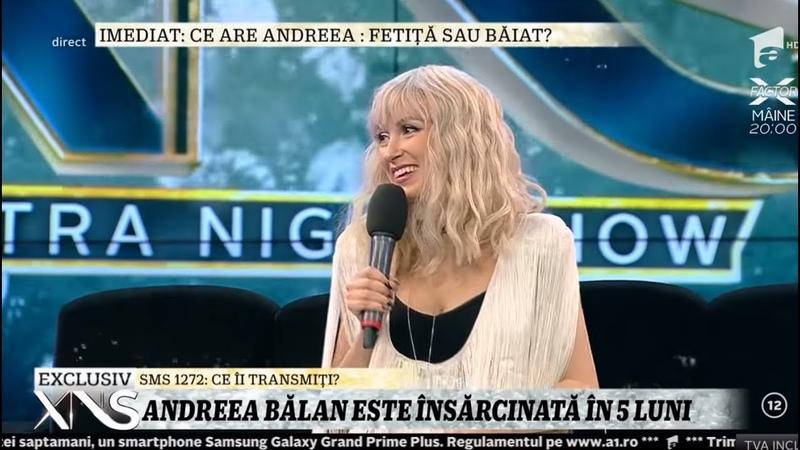 Andreea Bălan este însărcinată în cinci luni. Artista și-a arătat burtica la TV