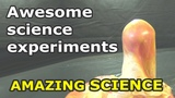 Hydrogen Peroxide and Potassium Permanganate - science experiments you can do at home