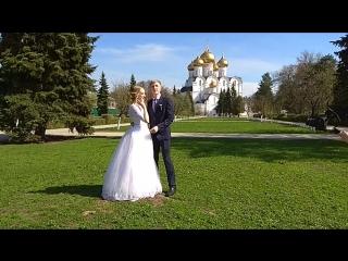 Запуск голубей на свадьбе
