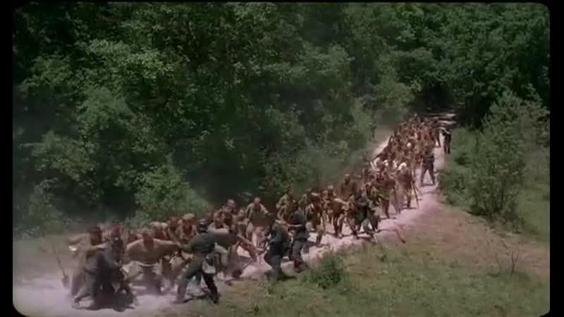 Бой пленных красноармейцев с немецкими конвоирами