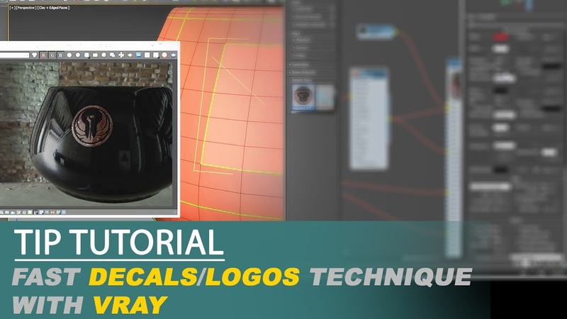 Tutorial tip Fast decalslogos technique with Vray