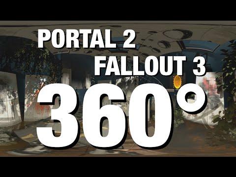 360° Video - PORTAL 2 / FALLOUT 3 Virtual Tour! - [Living In Alaska 200]