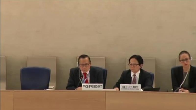 楊建利在联合国人权理事会发言,中共政府代表团三次打断试图阻止未得逞 - YouTube