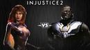 Injustice 2 - Старфаер против Дарксайда - Intros Clashes (rus)