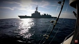 Warship Destroyer Intercepts Fishing Boat - HMAS Hobart