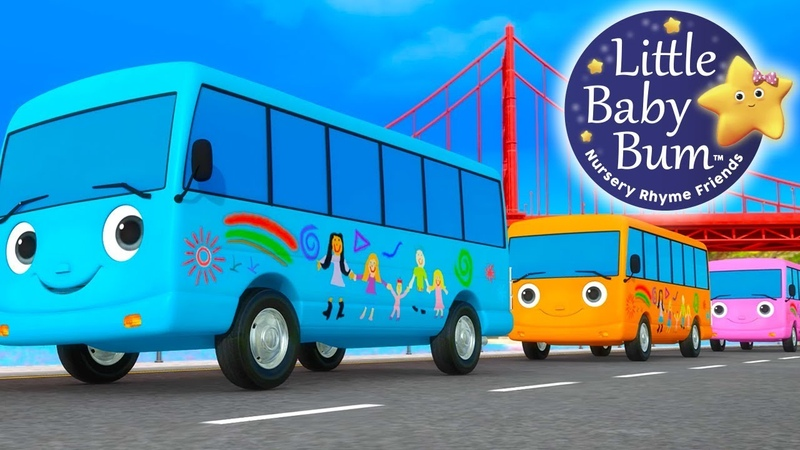 Ten Little Buses | Part 4 | Nursery Rhymes | By LittleBabyBum!