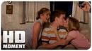 Роуз и Кейси учат Кенни целоваться Мы Миллеры 2013 Момент из фильма