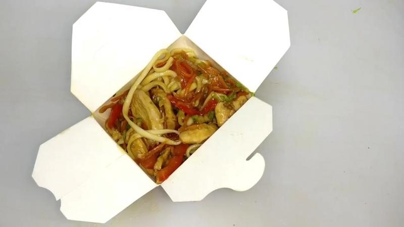 Лапша Вок в коробочке, с Курицей и соусом терияки