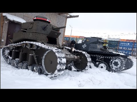Как сделать танк Т-I за пять минутHow to make a tank PzKpfw I B in five minutes