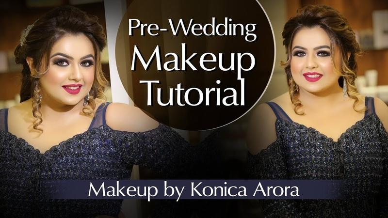 Pre Wedding Makeup Tutorial | Sagan Makeup | Step By Step Engagement Look | Krushhh By Konica