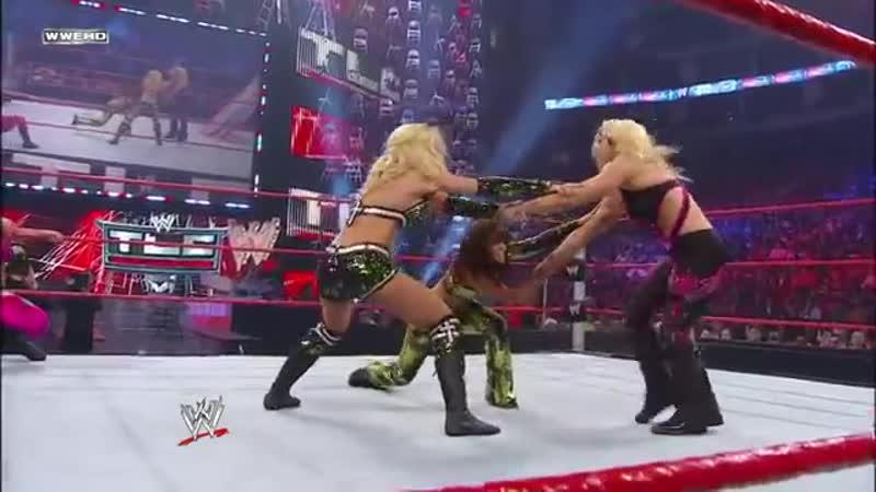 FULL MATCH - Beth Phoenix Natalya vs. Lay-Cool - Tables Match_ WWE TLC 2010 (W