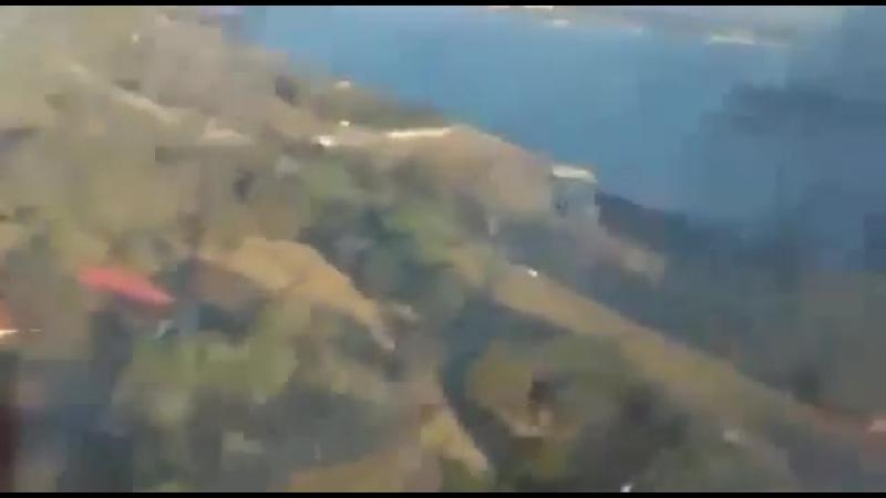 Крушение самолета в ЮАР заснял пассажир