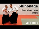 Aikido technique SHIHONAGE on basic attacks by Stefan Stenudd 7 dan Aikikai shihan