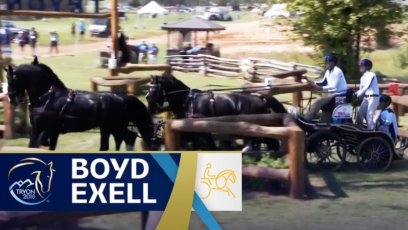 Boyd Exell is on Target for the Title Defence | Driving | FEI World Equestrian Games 2018
