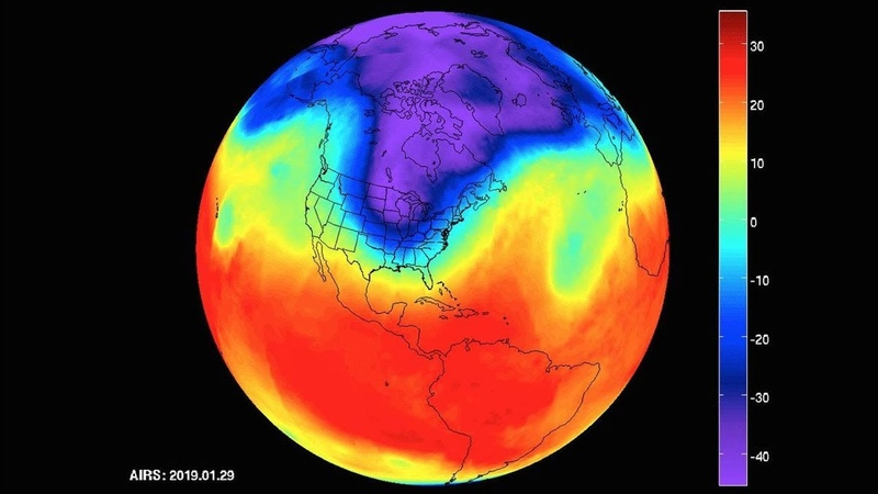 'FROST QUAKES' NASA's AIRS Captures Polar Vortex Moving in Over US