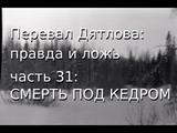 Перевал Дятлова правда и ложь, ч.31 СМЕРТЬ ПОД КЕДРОМ