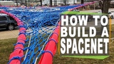 How do you build a slackline spacenet? Detailed instructions on building a bomber highline spacenet