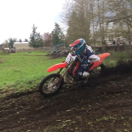 Carson Brown on cr250 2-stroke action