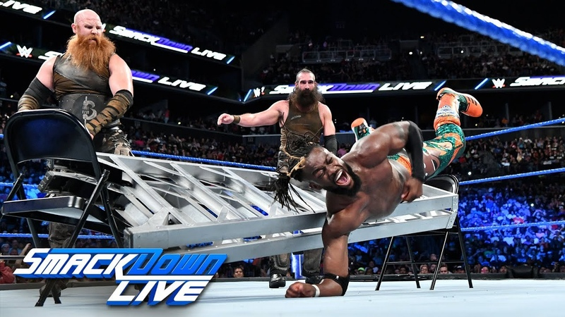 New Day vs. Bludgeon Brothers - SmackDown Tag Team Title No DQ Match SmackDown LIVE, Aug. 21, 2018