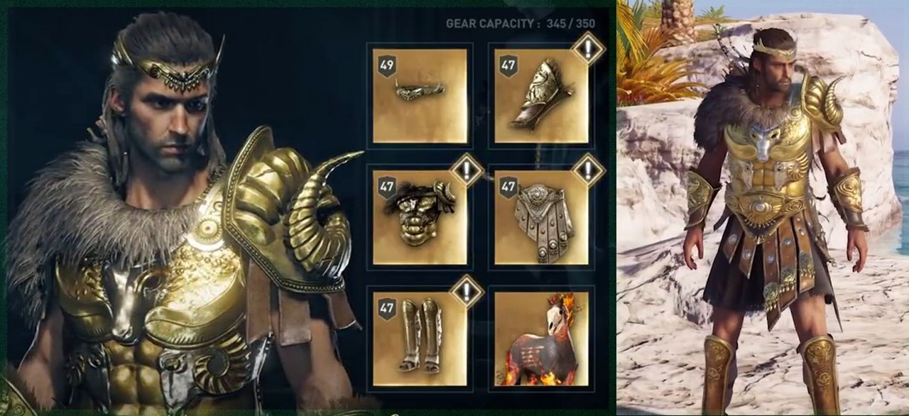 Набор легендарной брони Героя Греции в Assassin's Creed Odyssey