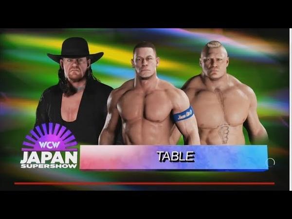 WWE 2K18 - John Cena vs Undertaker vs Brock Lesnar - Table Match