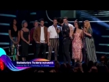 The cast of Shadowhunters accept the award for Choice Sci-FiFantasy TV Show at the Teen Choice Awards 2018