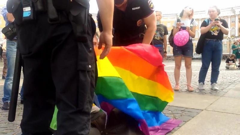 Незаконное задержание на прайде ЛГБТ в Питере 04.08.2018 - Санкт-Петербург