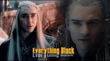Everything Black - Legolas + Thranduil sass