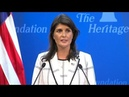 🔴 URGENT: Nikki Haley Addresses US Withdrawal From Un Human Rights Council - July 18, 2018