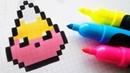 Handmade Pixel Art - How To Draw Kawaii Candy Corn pixelart Halloween
