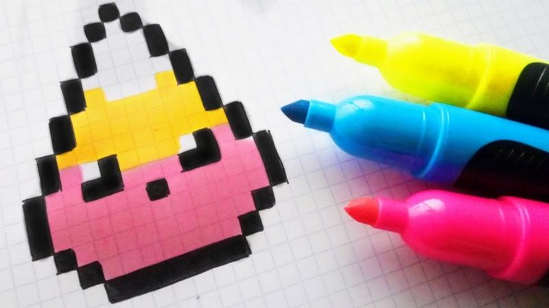 Handmade Pixel Art How To Draw Kawaii Candy Corn pixelart Halloween
