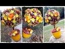 Осенний топиарий из каштанов и желудей с цветами — удобный мастер-класс! Топиарий от Тихоновой