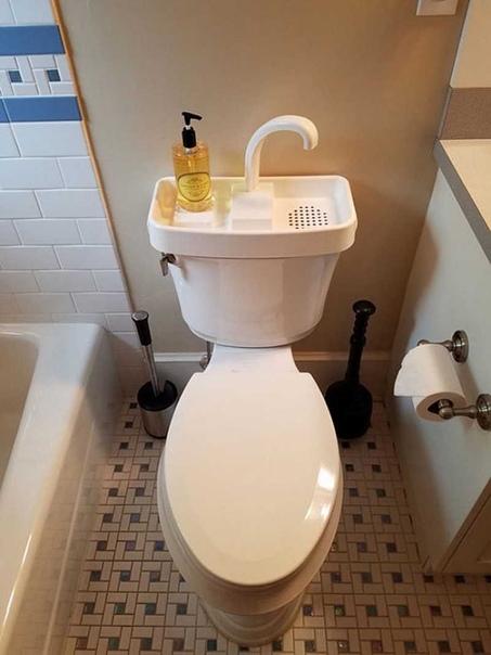 Идея для экономии воды. Мыть руки и повторно использовать эту воду для слива.Как думаете это слишком
