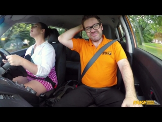 Fakedrivingschool crystal smith - busty curvy learner fucks to orgasm