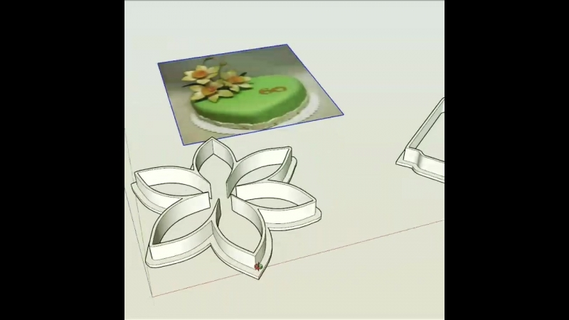 каттер нарцис формочка вырубка цветы