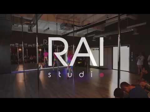 RAI studio, Exotic Pole Dance performance. Tomas Alenčikas Ilona Radavičiūtė.