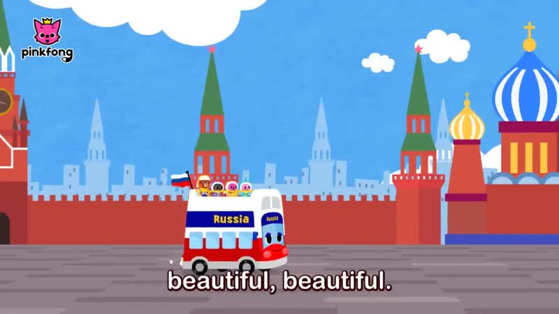 Russia Tour Bus Lets Tour Russia Car Songs Pinkfong Songs for Children