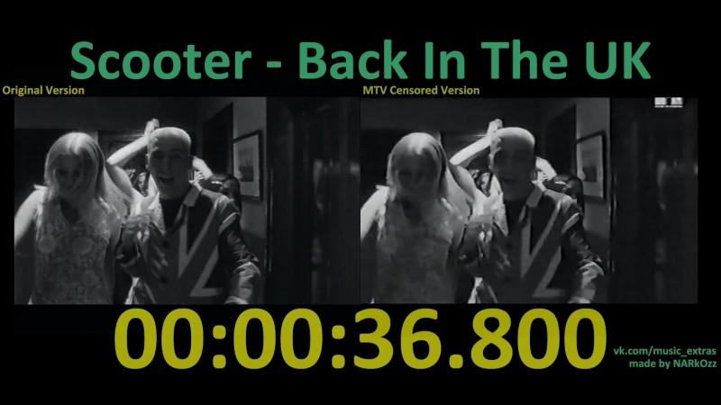 Scooter - Back In The UK (1995) (Original Version x MTV Censored Version)
