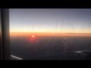 🌅рассвет в самолёте, летим в Сочи